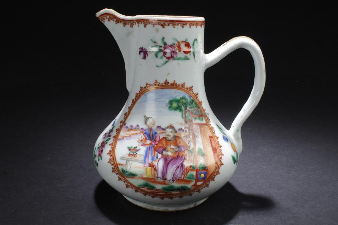 Antique Chinese Famille Rose Porcelain Ewer
