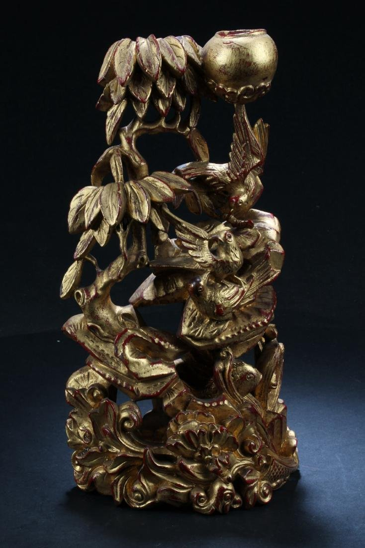 A Chinese Wooden Carved Ornament
