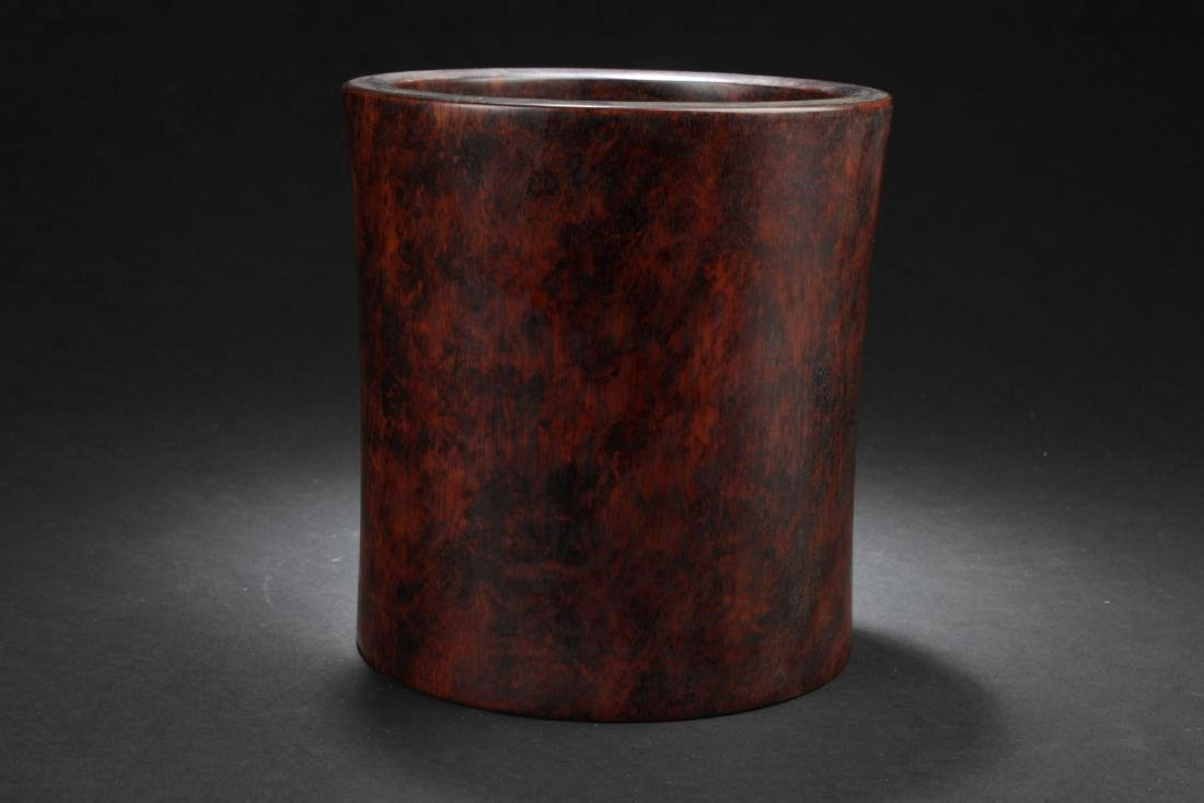 Chinese Hardwood Brushpot