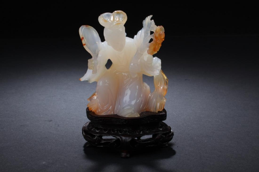 Antique Chinese Carved Agate Ornament