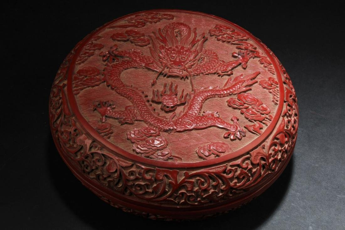 A Chinese Cinnabar Lacquer Round Container