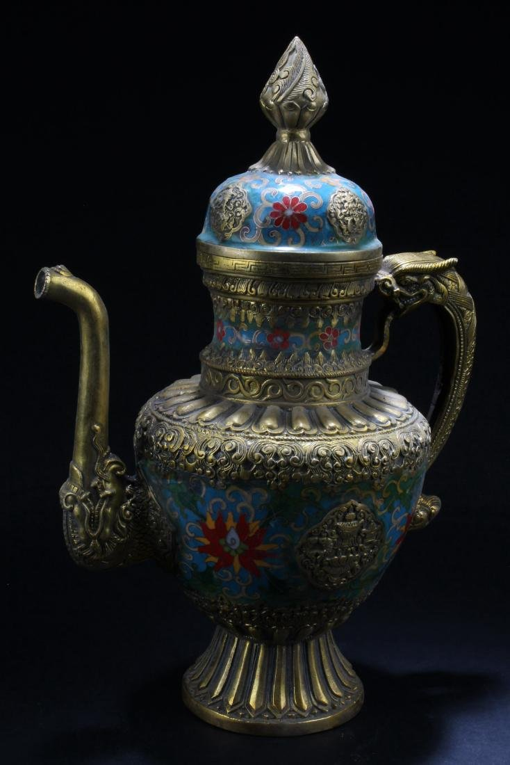 A Chinese Cloisonne TeaPot