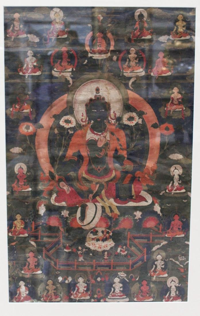 A Framed Tibetan Thangka