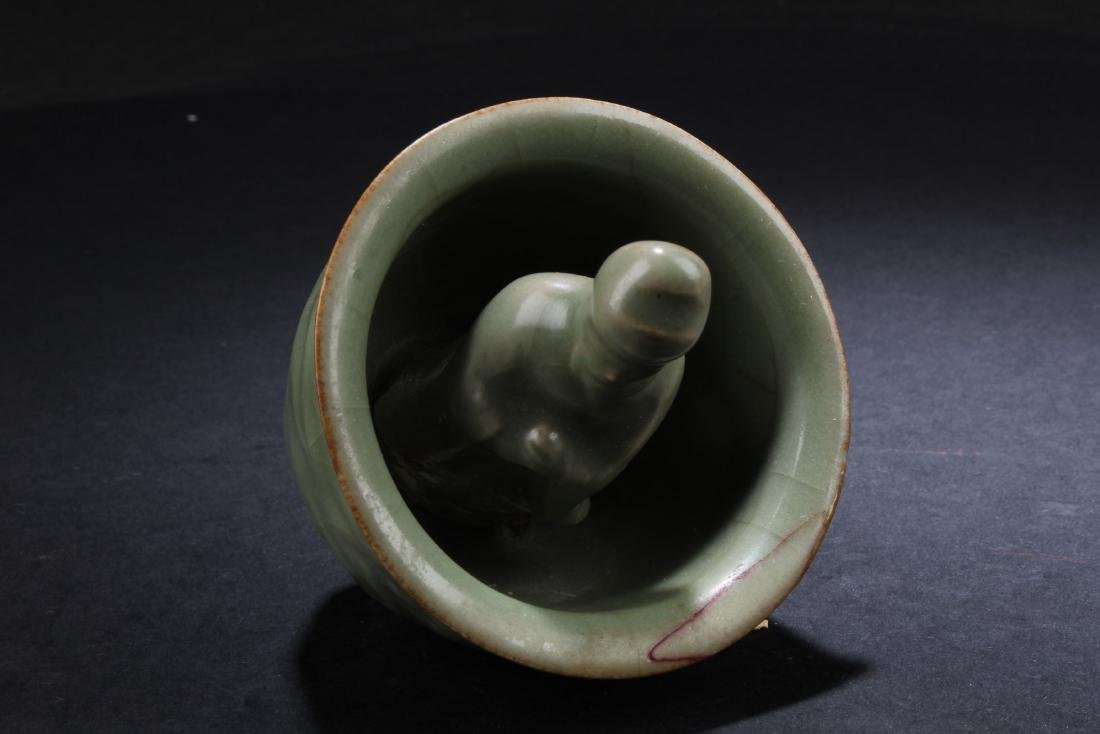 A Chinese Celadon 'Gong Dao' Cup - 4