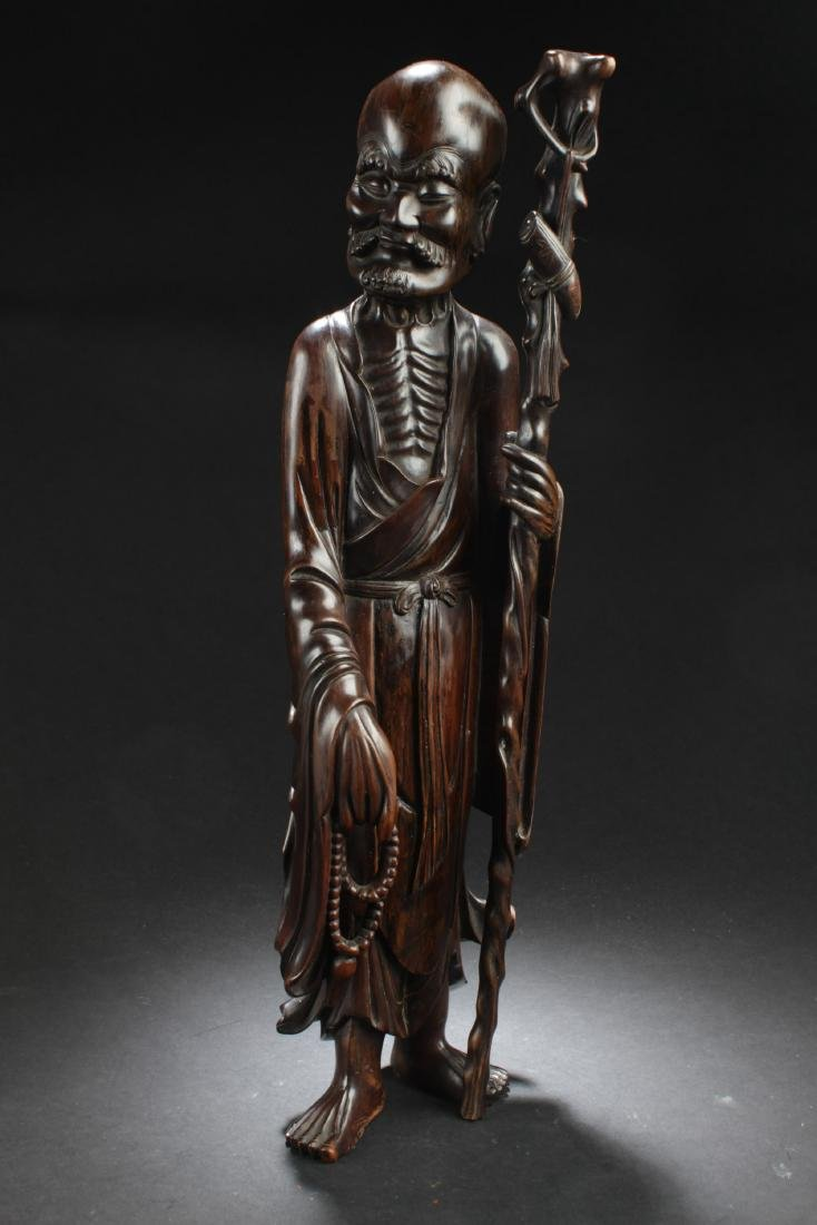 Antique Chinese Bowood Carved Statue