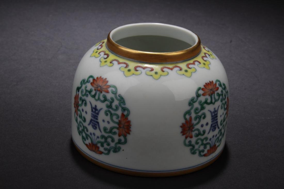 Chinese Famille Rose Porcelain Ink Washer