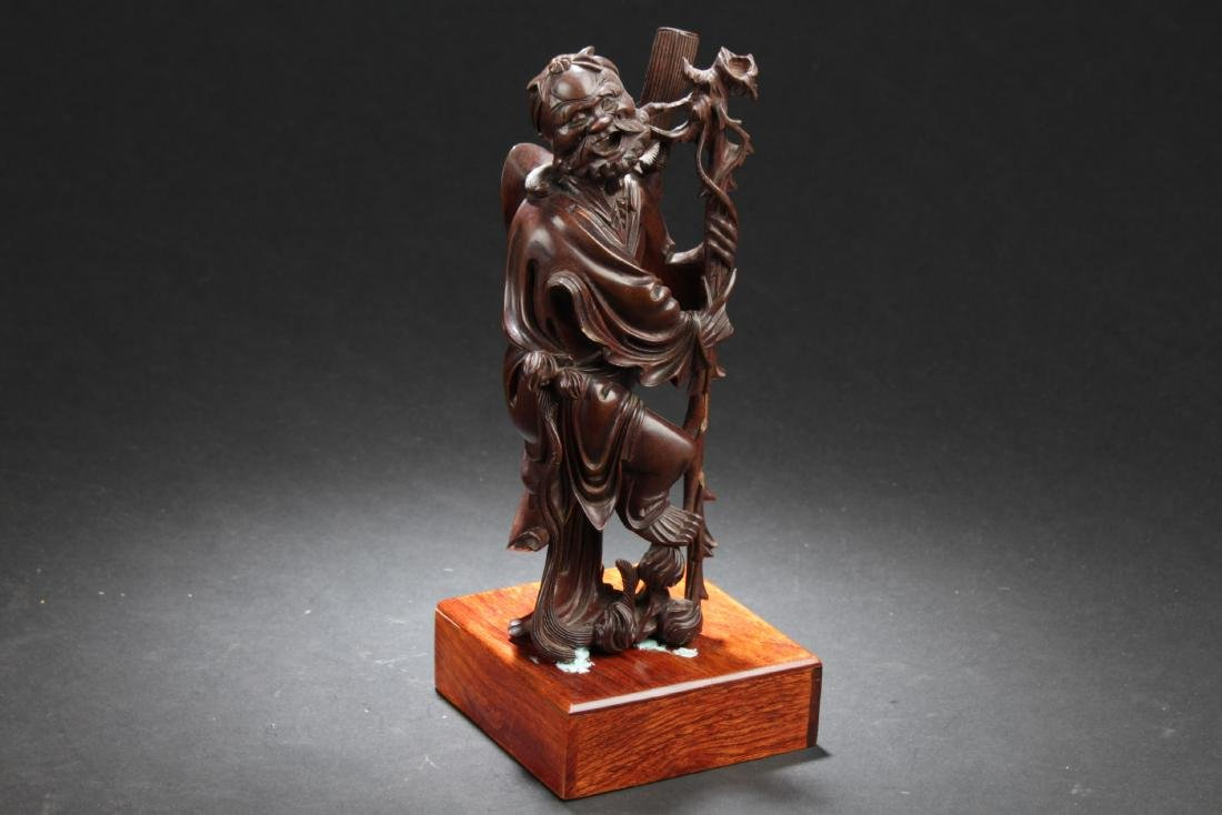 Antique Chinese HuangYangMu Carved Statue