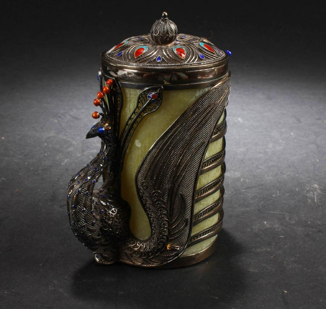 Antique Chinese Silver  Container