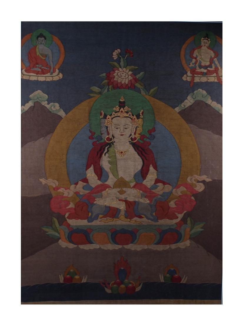 Chinese Tibetan Kesi Thangka, 3rd Year Republic Period