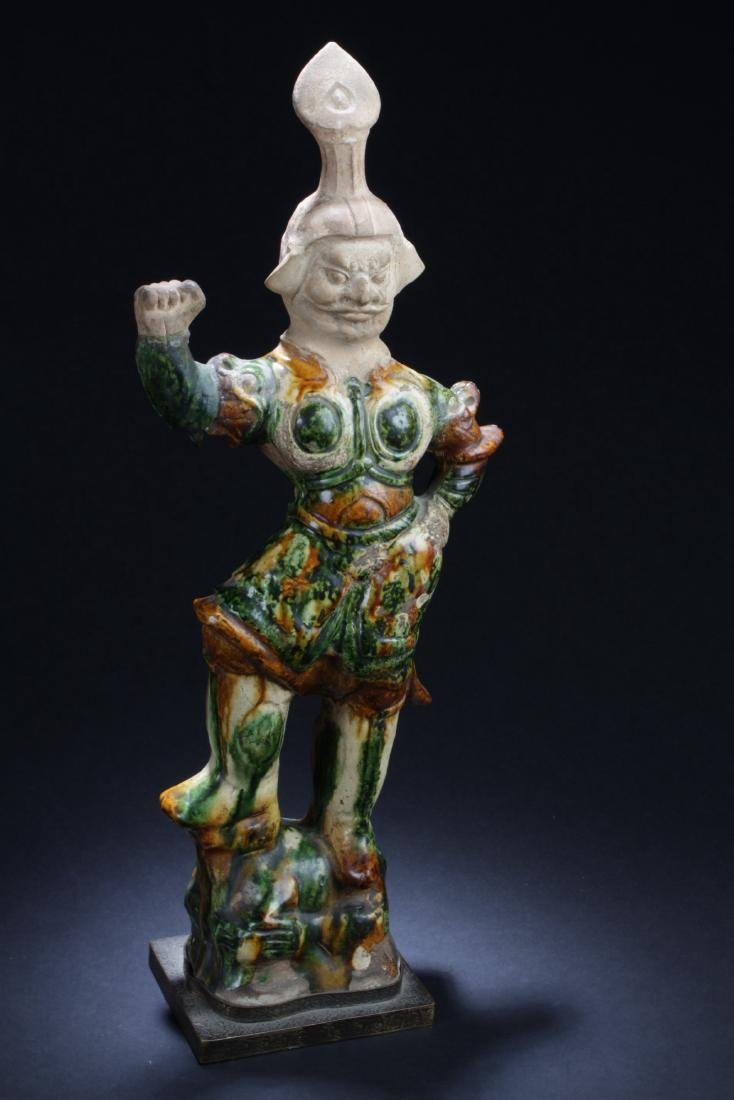 Antique Chinese Pottery 'Tang San Cai' Statue