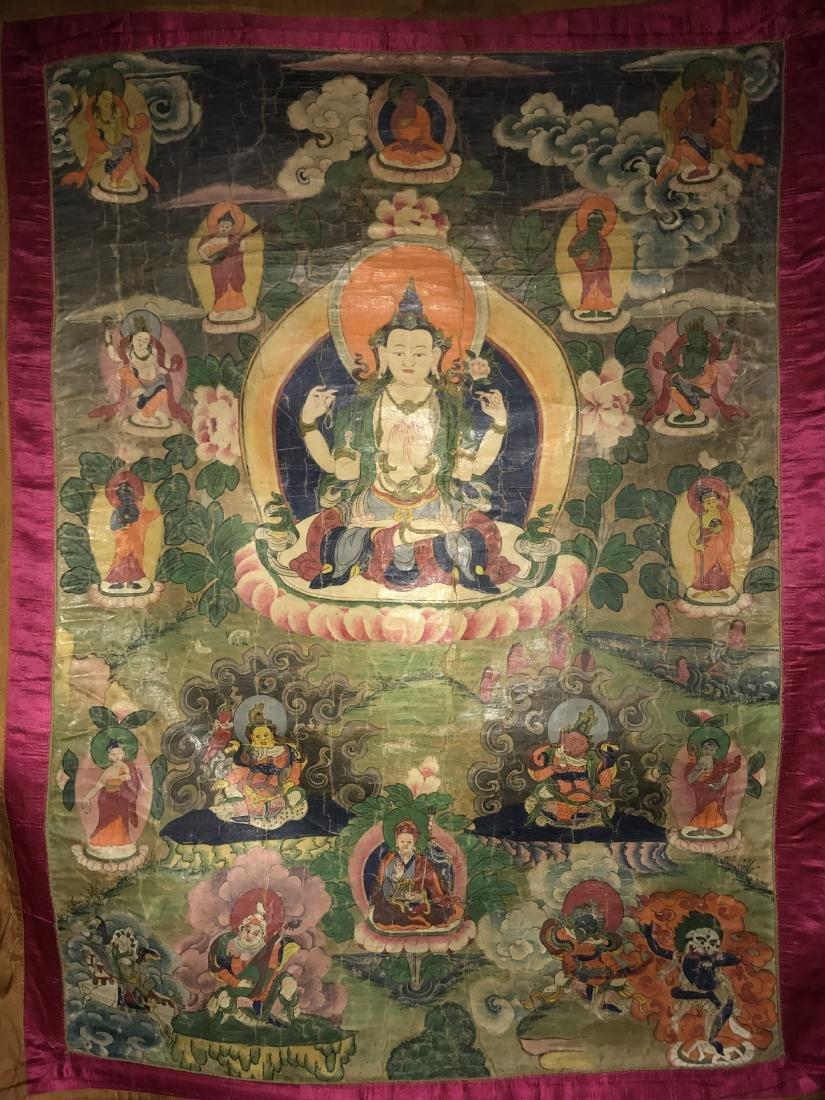 Antique Thangka, 18th Century