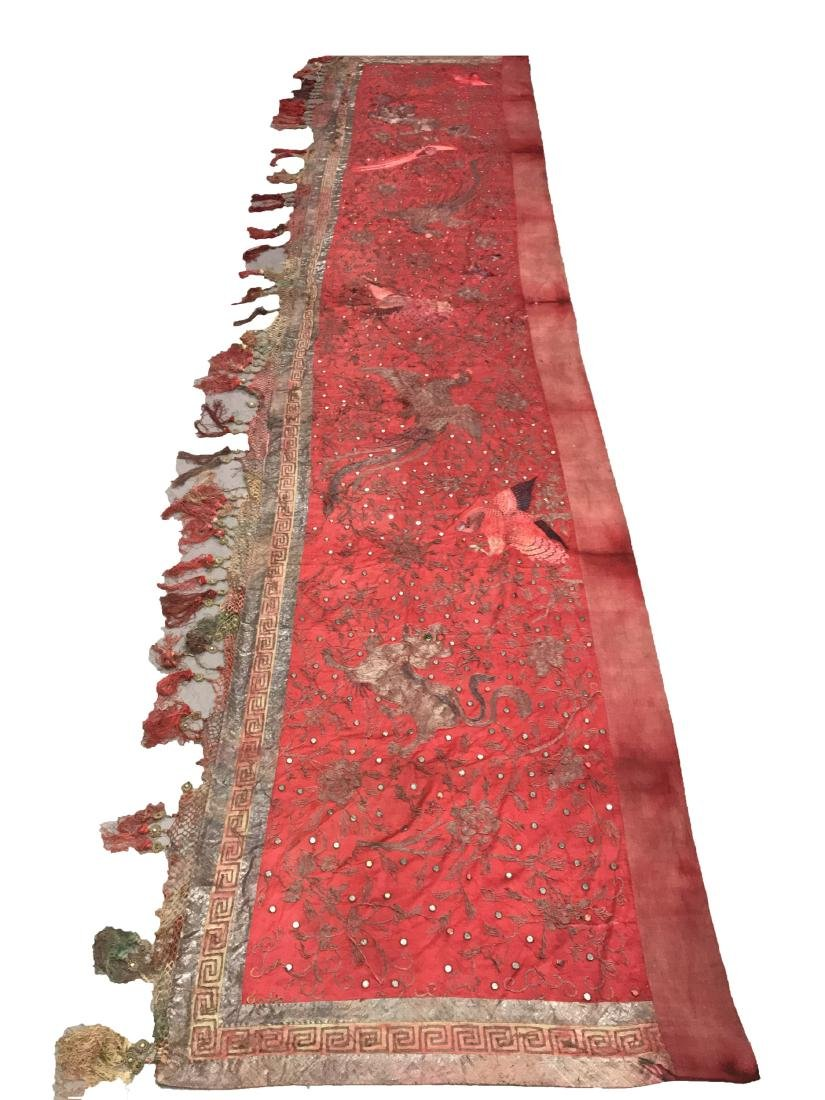 Antique Chinese Cloth Banner
