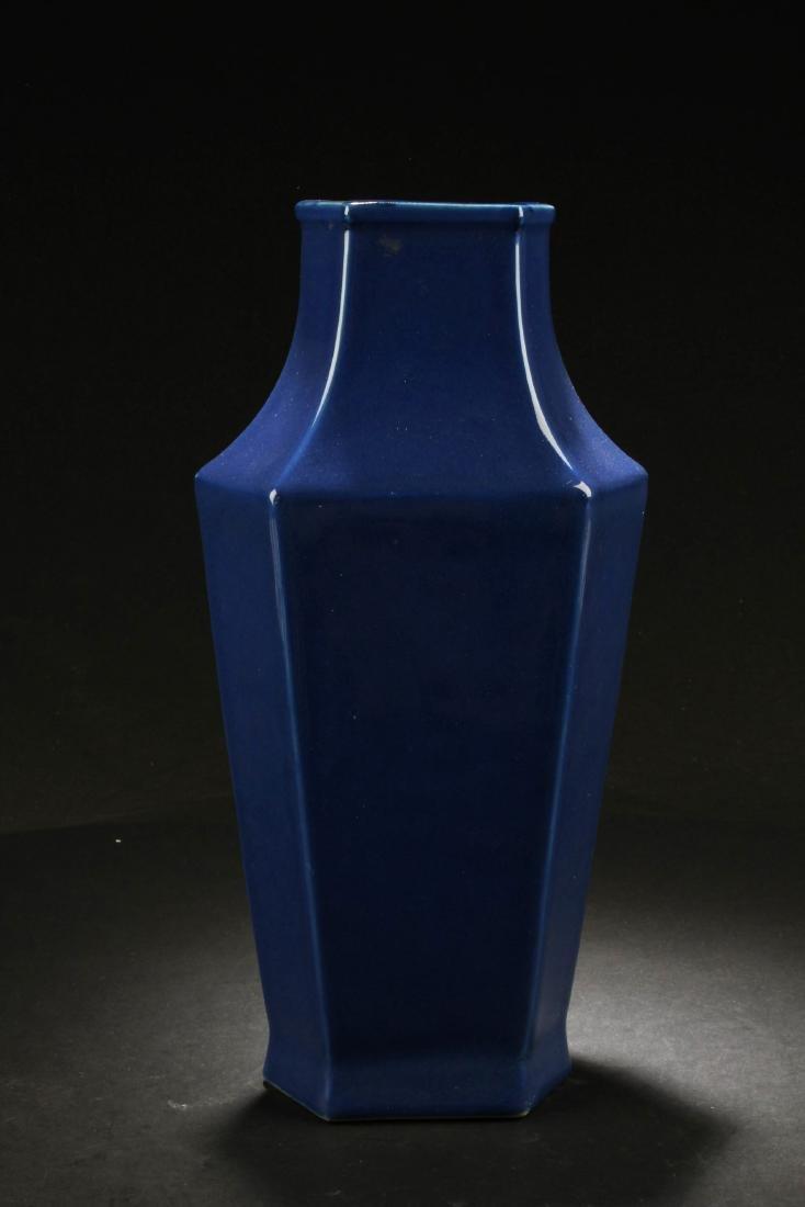 Chinese Hexagon Shaped Porcelain Vase