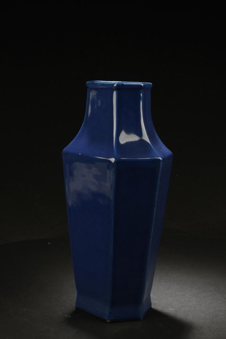 Chinese Hexagon Shaped Porcelain Vase - 2