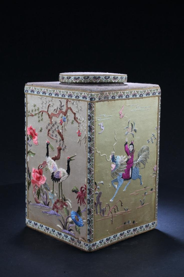 Chinese Embroidery Container