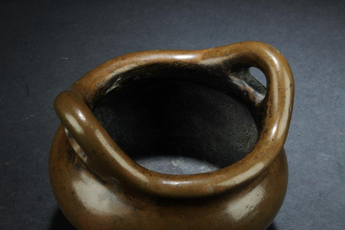 Chinese Bronze Tripod Censer - 3
