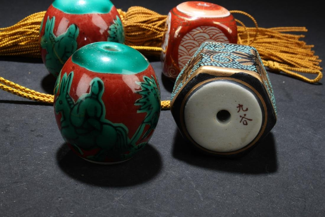Five Pairs of Chinese Painting knobs - 5