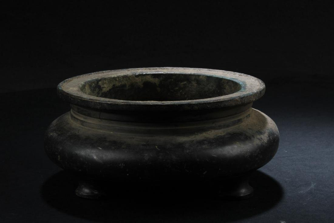 Chinese Bronze Tripod Censer - 2