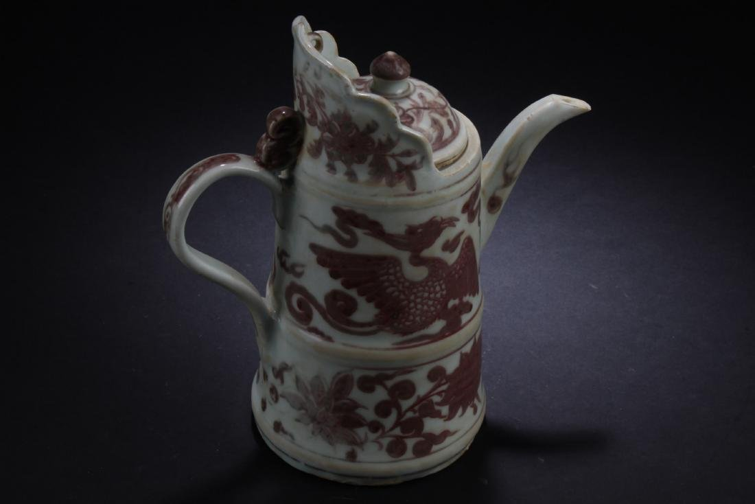 Chinese Iron Red Porcelain Ewer