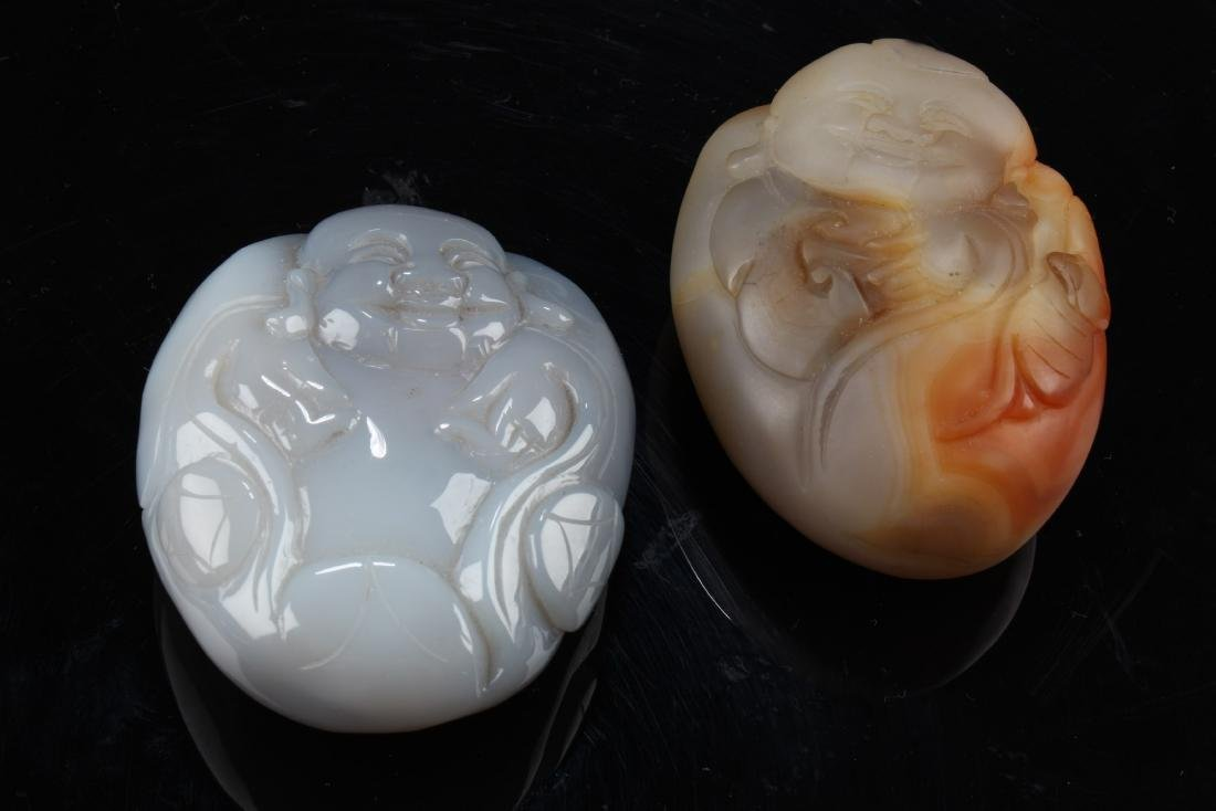 A Pair of Chinese Agate Ornaments