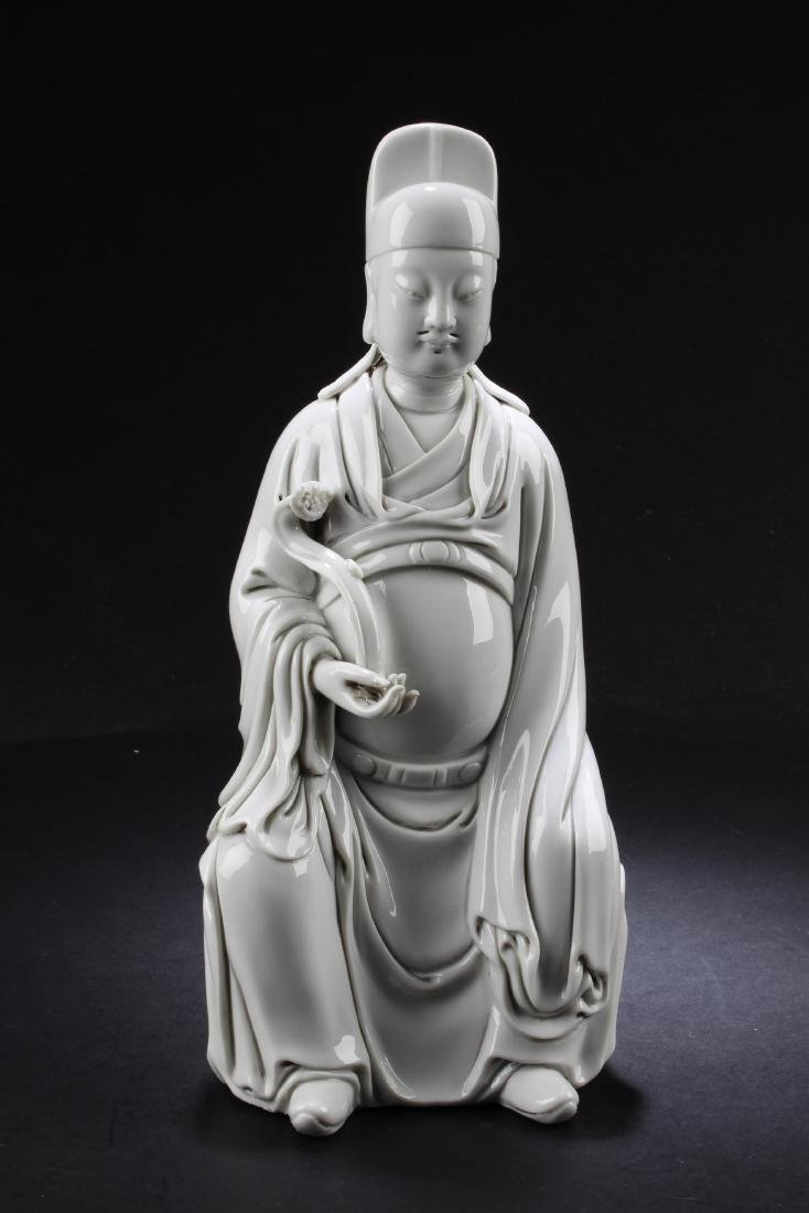 A Chinese Blanc De Chine Statue