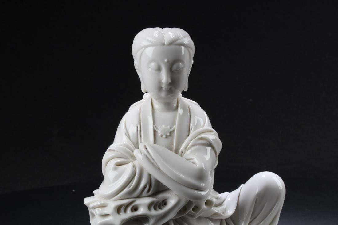 A Chinese Blanc De Chine Bodhisattva Statue - 2