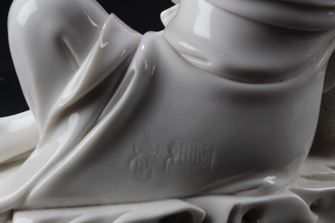 A Chinese Blanc De Chine Bodhisattva Statue - 6