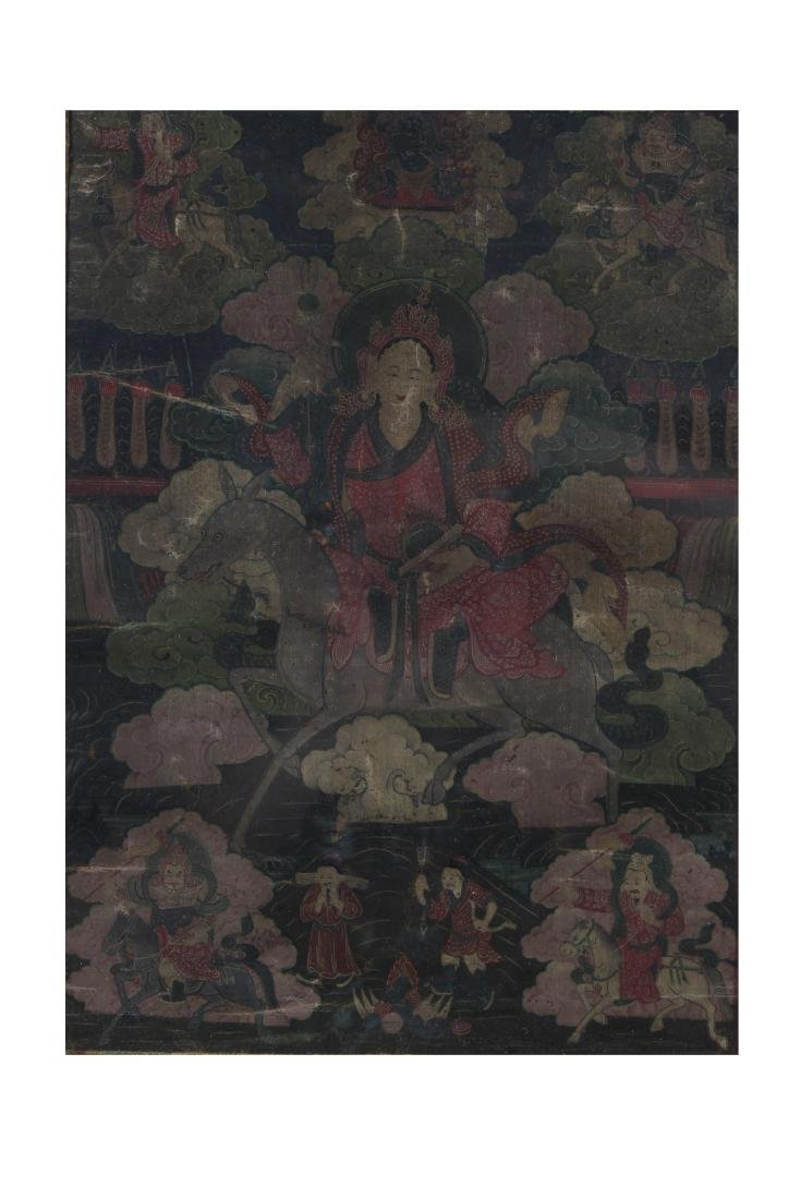 Antique Chinese Framed Thangka