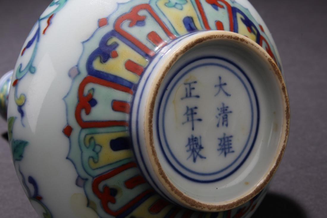 Chinese Famille Verte Porcelain Vase - 4