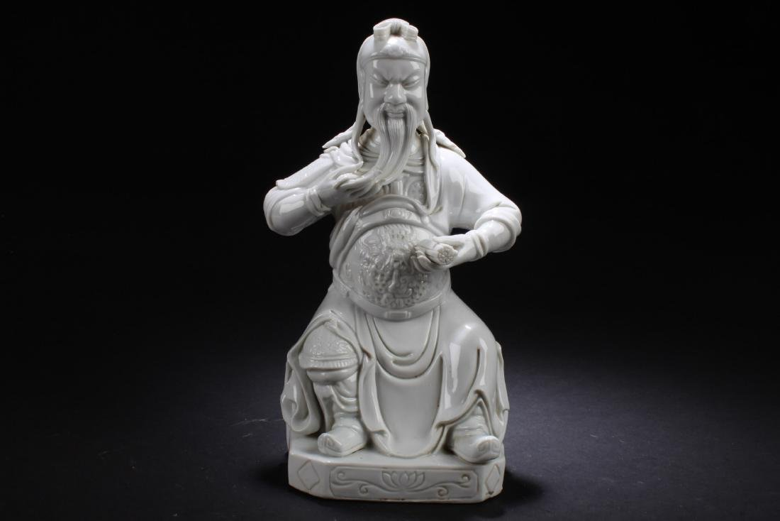 Chinese Blanc De Chine Deity Statue
