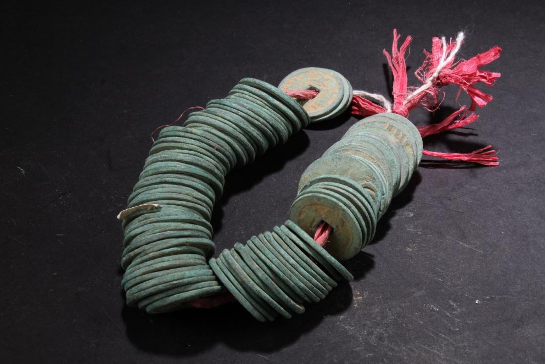 A String of Chinese Copper Coins - 2