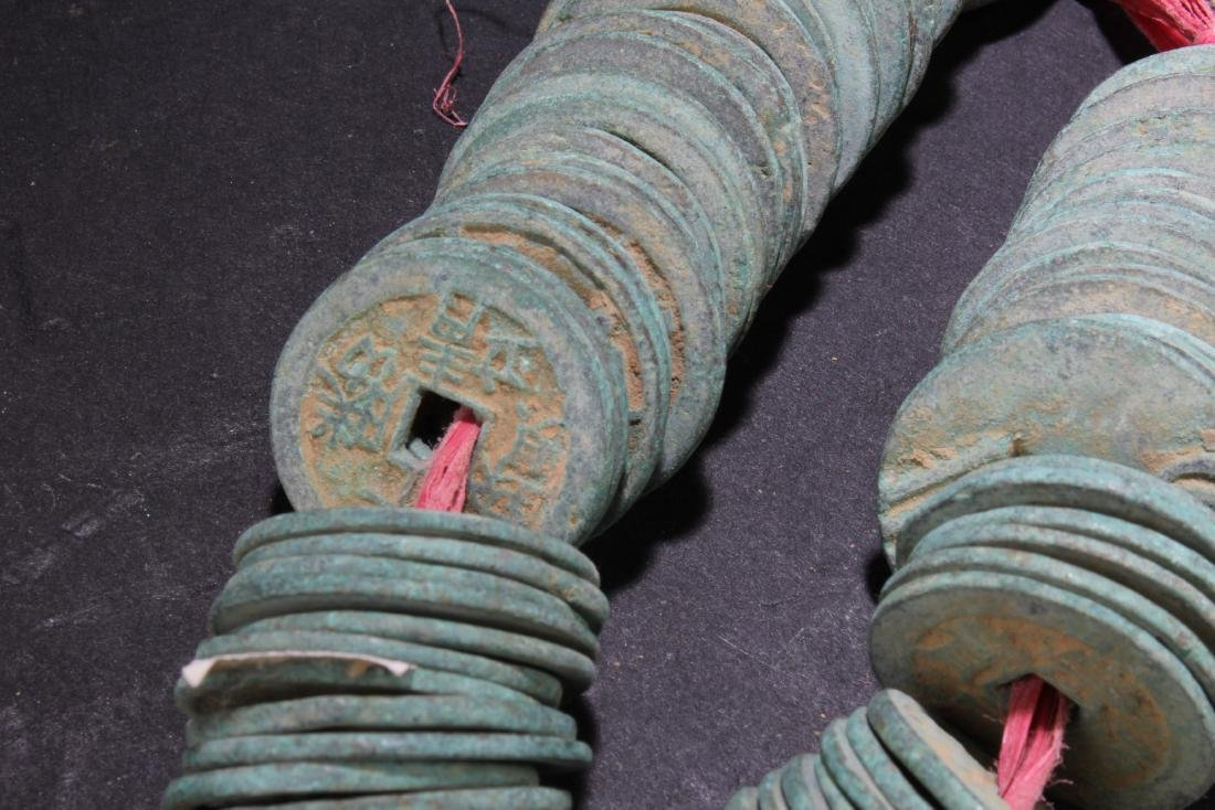 A String of Chinese Copper Coins - 3