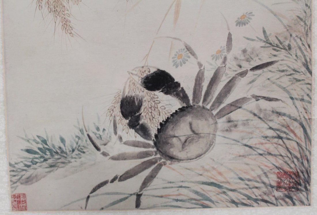 A Framed Chinese printed Painting - 2
