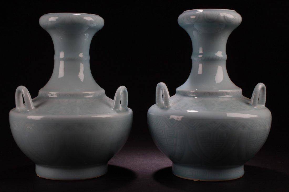 A Pair of Chinese Enamel Glazed Vases