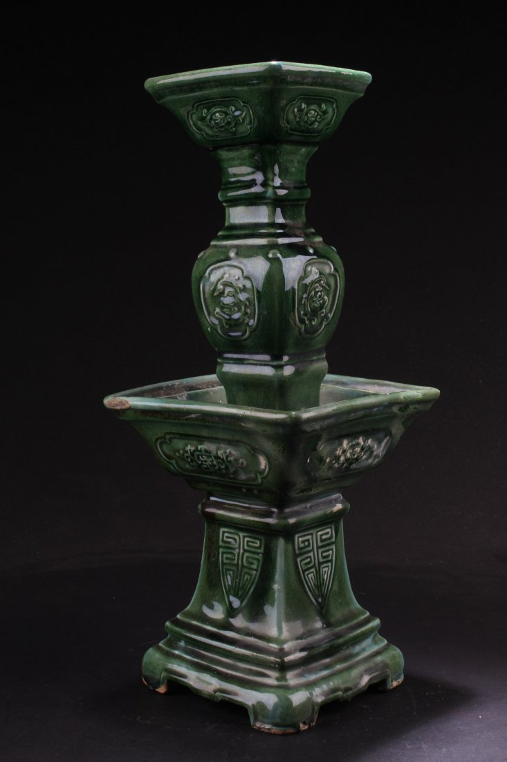 A Porcelain Candle Holder, Late Qing Period