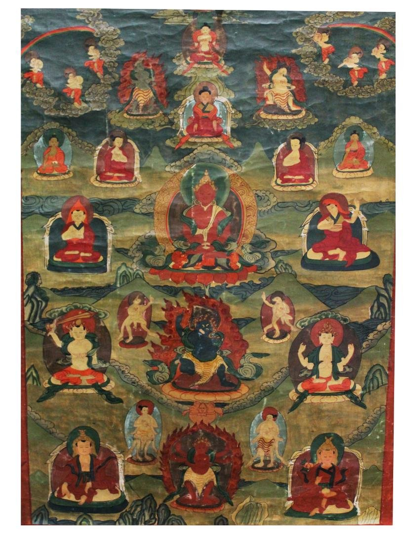 Chinese Tibetan Thangka, 18th C