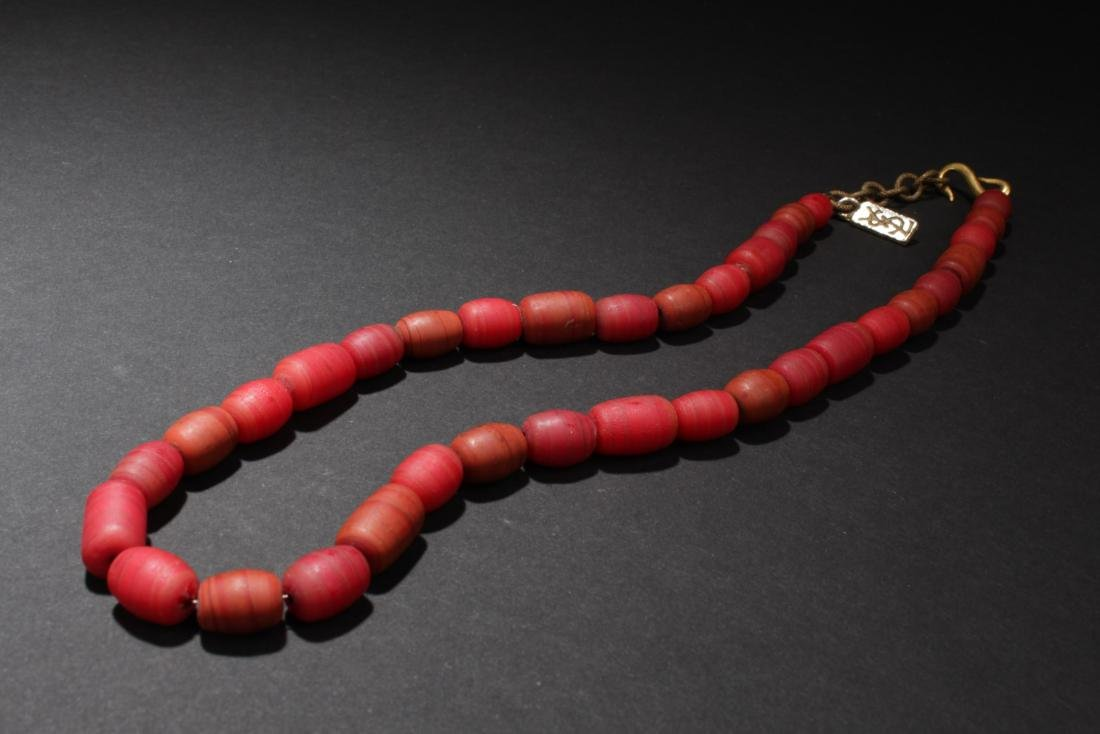 Chinese Liuli Bead Necklace