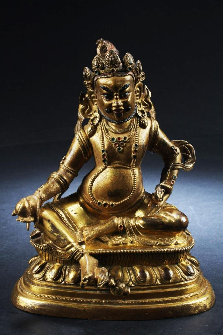 Antique Chinese Bronze Bodhisattva Statue