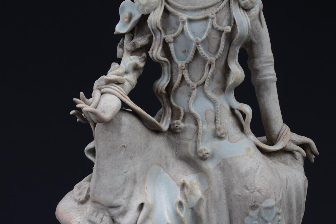 Antique Chinese Porcelain Bodhisattva Statue - 3