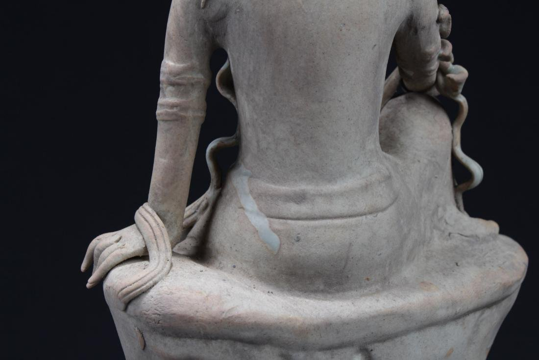 Antique Chinese Porcelain Bodhisattva Statue - 5