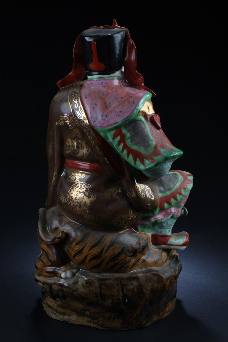 Chinese Porcelain Deity Statue - 3