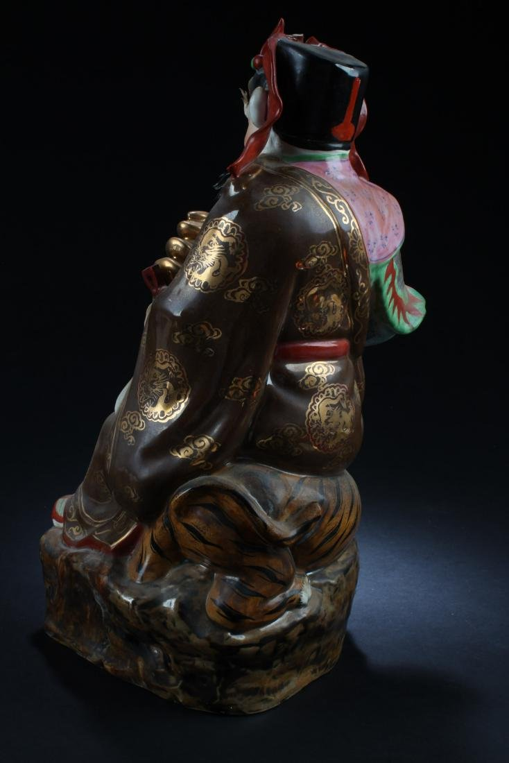 Chinese Porcelain Deity Statue - 4