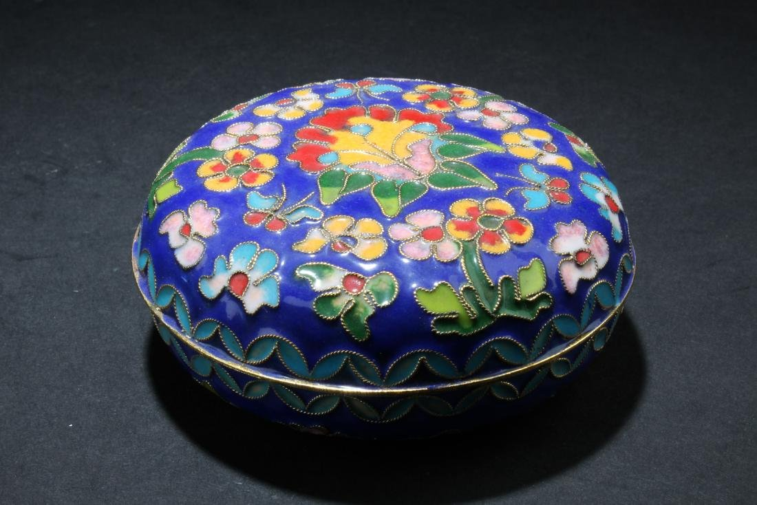 A Chinese Cloisonne Round Container