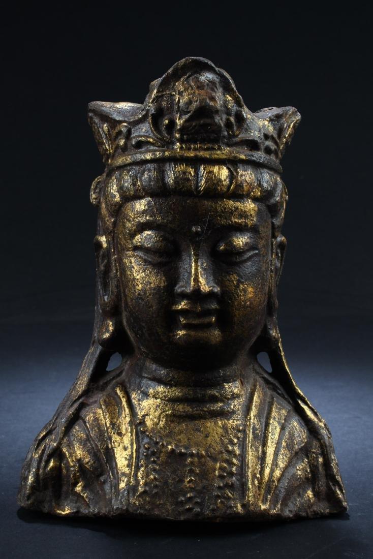 Chinese Guanyin Head Statue