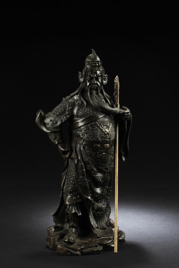 Chinese Bronze Guanyin Statue