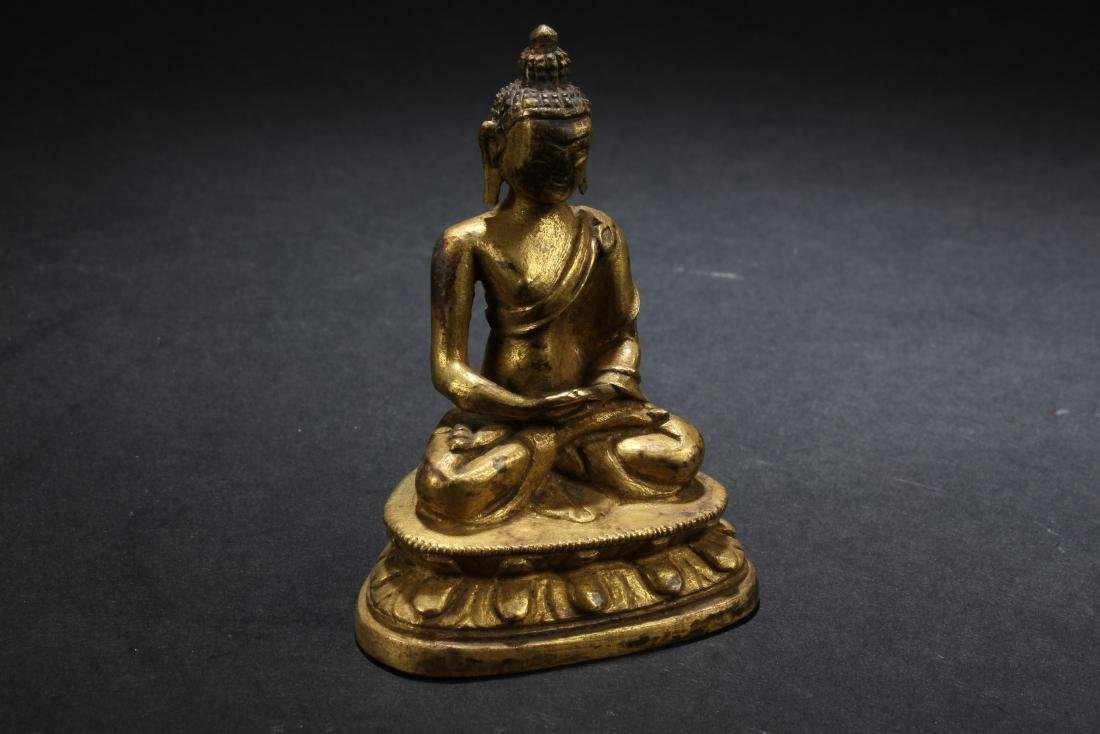 A Chinese Gilt Bronze Buddha Statue