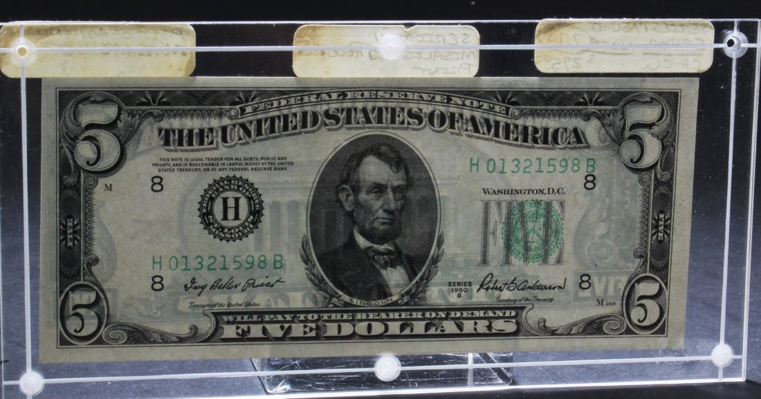 US Five Dollar Note