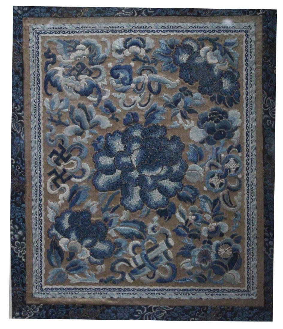 A Chinese Framed  Embroidery