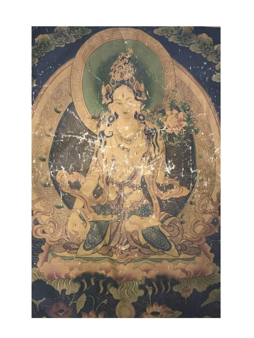 Antique Chinese Thangka