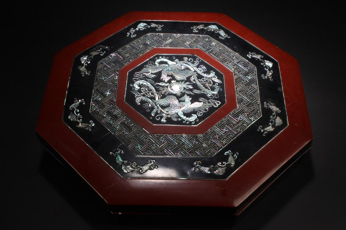 Chinese Container with Mother Pearl Inlay